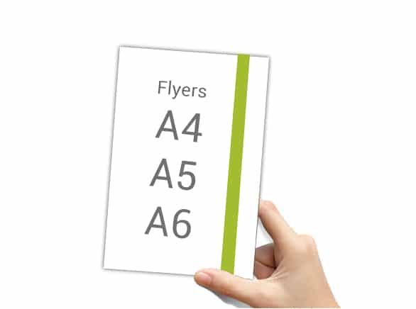 Impresión de Flyers y Folletos en todos los formatos.