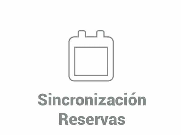 sincronización de reservas web