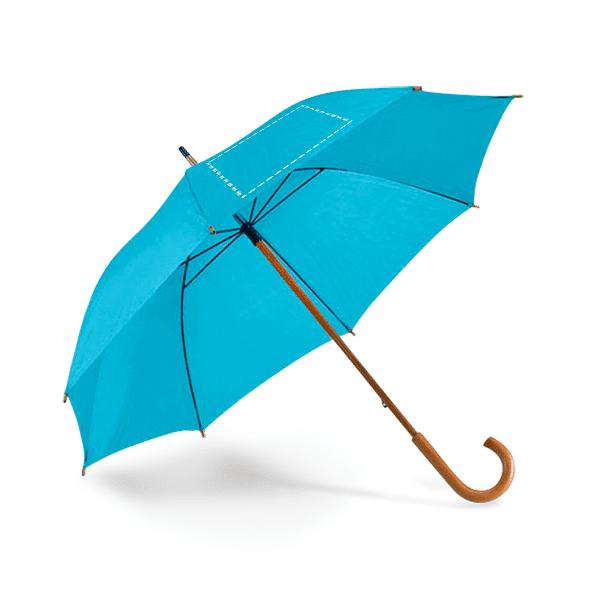 Paraguas personalizado mango madera azul claro