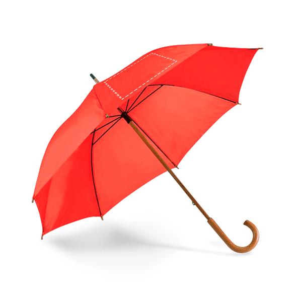 Paraguas personalizado mango madera rojo